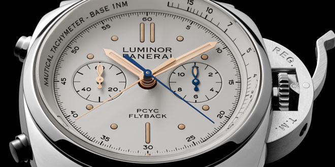 Panerai PAM654 PCYC Luminor Marina 1950 Chrono White Dial