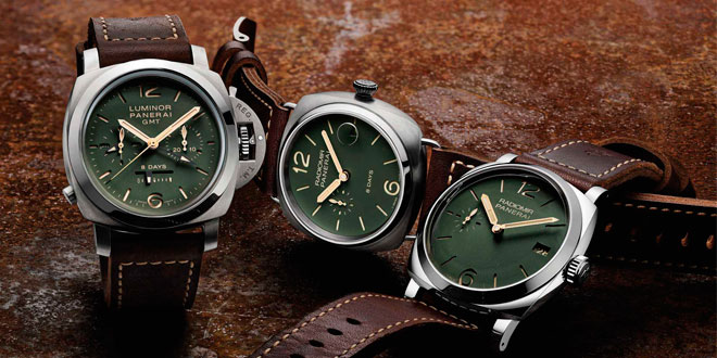 Panerai Releases A Trio of Green Dialed Beauties