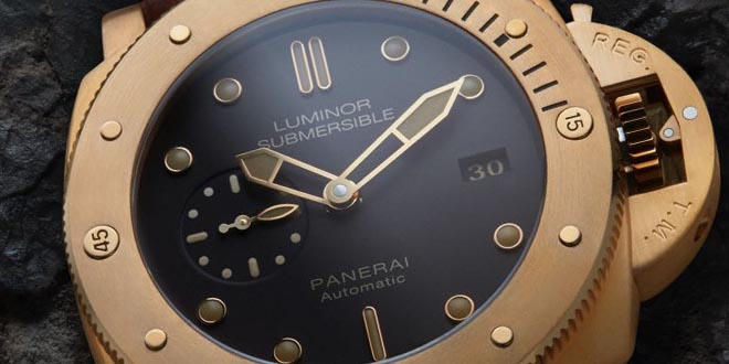 Panerai Brown Dial Bronzo